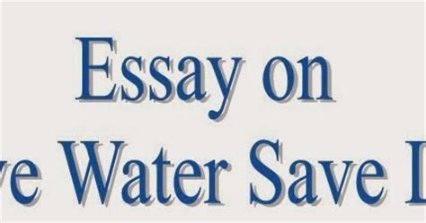 Short essay on save environment